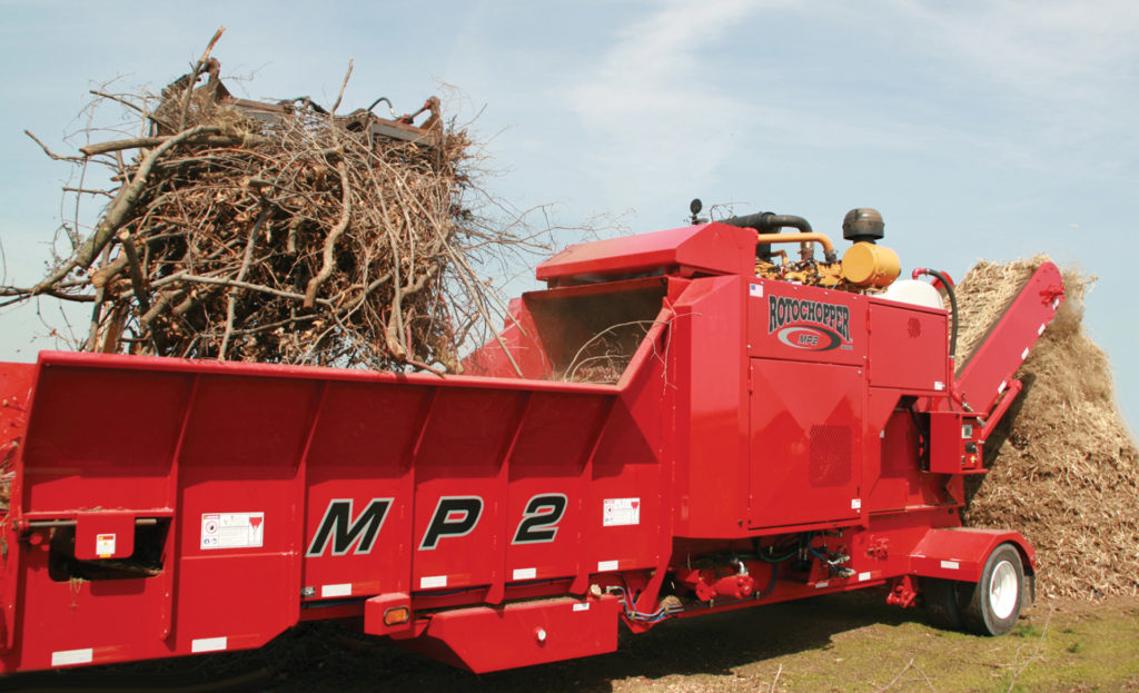 mp2 yard waste compact horizontal grinder